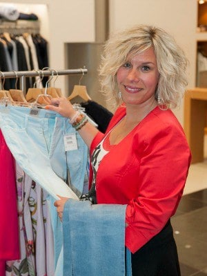 Personal shopper in de winkel
