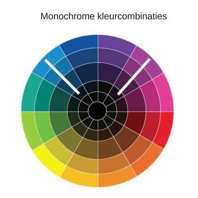 Monochrome kleuren, ton-sur-ton