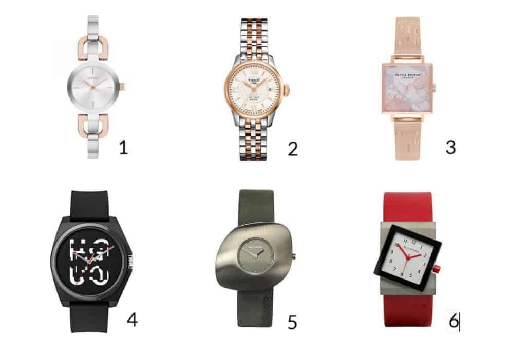 Horloges in verschillende stijlen