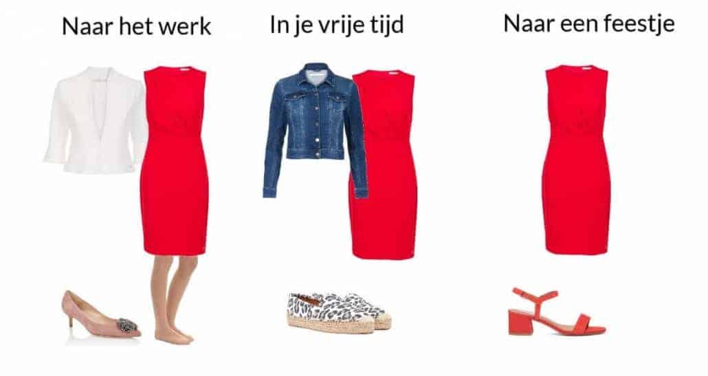 1 jurk en 3 combinaties voor verschillende gelegenheden