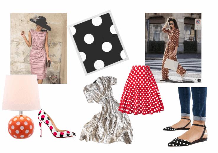 Stippen nopjes en polkadots in kleding