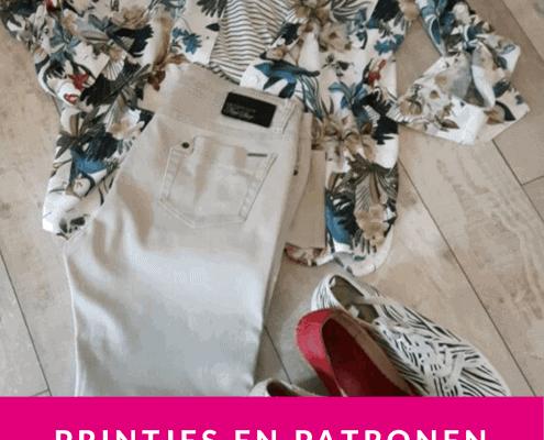 Een print in je kleding is veelzijdig te combineren