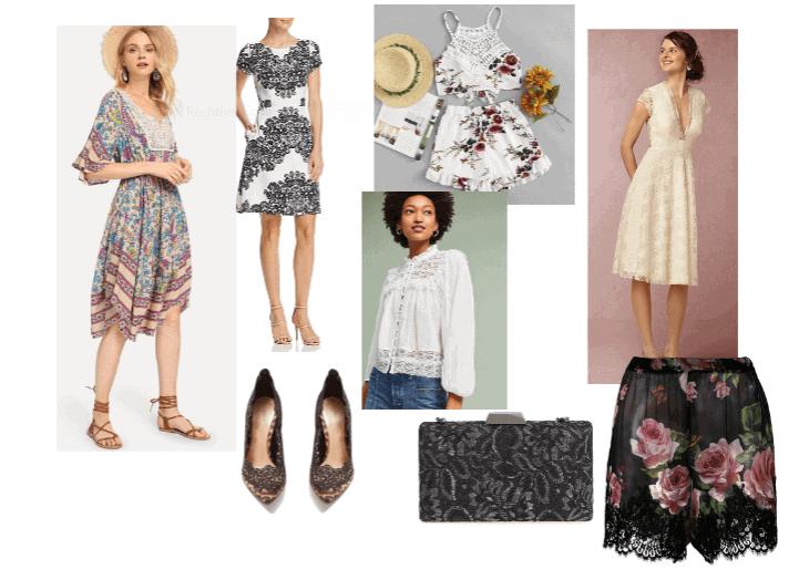 Verschillende soorten kant in kleding