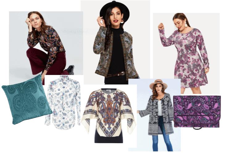 Een paisley print in kleding