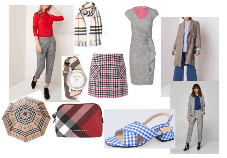 Verschillende ruitjes in kleding