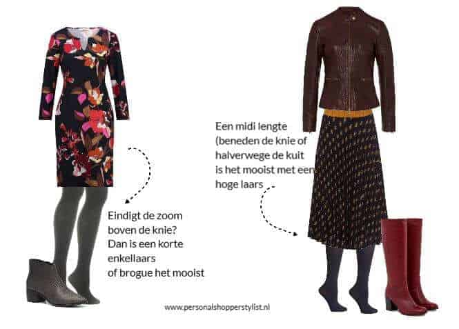 wat voor schoenen draag je onder een jurk of rok
