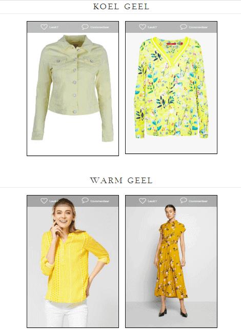 Kledingtips: het verschil tussen warm en koel geel