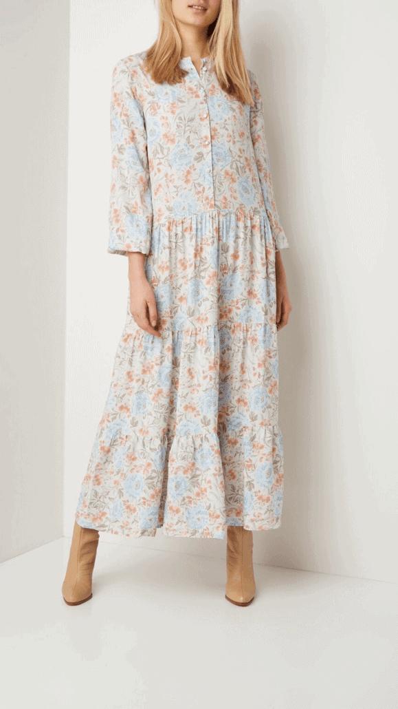 Lange jurk voor V figuur