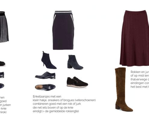 welke schoenen draag je onder een jurk of rok in de winter