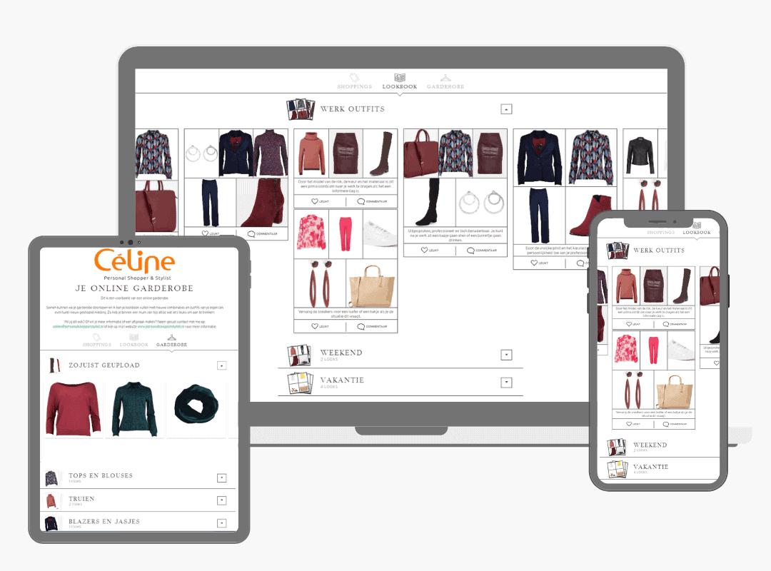 online kledingkastadvies met nieuwe kledingcombinaties uit je eigen garderobe